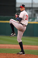 Richmond Braves Phil Stockman during an International League game at Dunn Tire Park on April 21, 2006 in Buffalo, New York.  (Mike Janes/Four Seam Images)