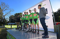Oliver's Real Food Racing team. The opening ceremony of the NZ Cycle Classic UCI Oceania Tour at Queen Elizabeth Park in Masterton, New Zealand on Tuesday, 14 January 2020. Photo: Dave Lintott / lintottphoto.co.nz