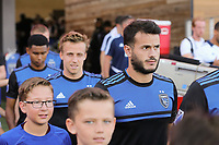 SAN JOSE, CA - AUGUST 24: Vako #11 of the San Jose Earthquakes prior to a Major League Soccer (MLS) match between the San Jose Earthquakes and the Vancouver Whitecaps FC  on August 24, 2019 at Avaya Stadium in San Jose, California.
