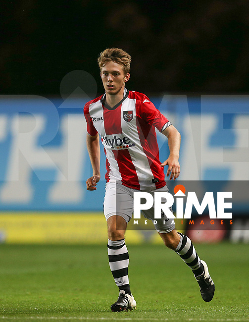 Max Smallcombe of Exeter City during the The Checkatrade Trophy match between Oxford United and Exeter City at the Kassam Stadium, Oxford, England on 30 August 2016. Photo by Andy Rowland / PRiME Media Images.