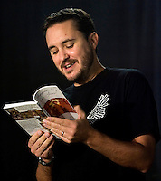 Photo by Stephen Brashear.Wil Wheaton reads from his book 'the Happiest Days of Our Lives' during a panel in the Serpent Theater on the final day of the Penny Arcade Exposition at the Washington State Visitor and Convention Center in Seattle, Wash., Sunday Aug. 31, 2008.