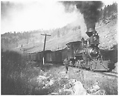 RGS 2-8-0 #3 near Telluride with John G. Phillips in the cab.<br /> RGS  near Telluride, CO  Taken by Wolfinger, C. D.