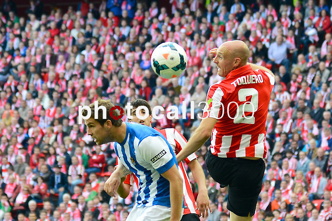 Football macht during La Liga BBVA.<br /> Athletic Club - Real Sociedad<br /> tokero