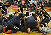 Baldwin teammates celebrate after their 78-48 win over Commack in the Class AA Long Island Championship at Suffolk County Community College Grant Campus in Brentwood on Thursday, March 8, 2018.