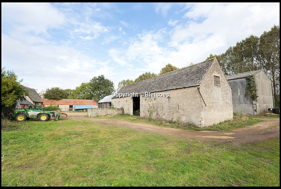 BNPS.co.uk (01202 558833)<br /> Pic: Bletsoes/BNPS<br /> <br /> ***Please Use Full Byline***<br /> <br /> The outbuildings at Green Farm, Northamptonshire. <br /> <br /> It's a farmer's life for me... This enormous farm estate complete with chocolate-box cottages and its own wooded island is on the market for the first time in 150 years.<br /> <br /> Green Farm comes with a seven-bedroom farmhouse, two thatched cottages and more than 600 acres of land, but this country paradise will set you back &pound;7.8million.<br /> <br /> Andrew Meikle from Bletsoes, who are selling the estate, said this is a chance for people to own a picturesque piece of England as beautiful as anything in the Cotswolds, but for a fraction of the price.