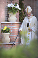 Pope Francis during his visit at Santa Maria Regina Pacis church in Ostia, south of Rome. May 3, 2015