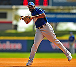 4 March 2009: New York Mets' outfielder Marlon Anderson takes infield practice prior to a Spring Training game against the Washington Nationals at Space Coast Stadium in Viera, Florida. The Nationals rallied to defeat the Mets 6-4 . Mandatory Photo Credit: Ed Wolfstein Photo