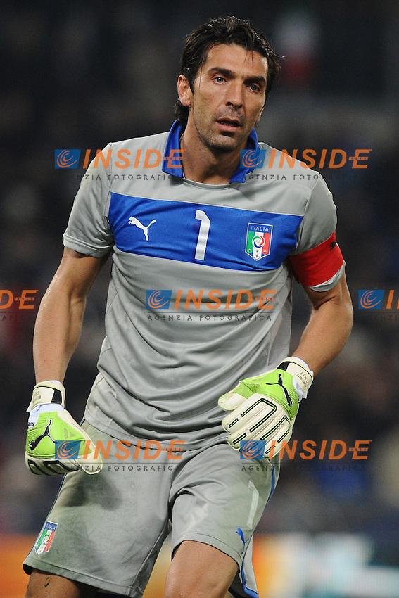 Gianluigi Buffon (Italia).Roma 15/11/2011 Stadio Olimpico .Football Calcio .Italia Vs Uruguay Friendly Match .Foto Insidefoto