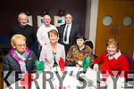 Enjoying the Lixnaw Senior Citizens christmas Luncheon at Ballyroe Heights Hotel on Sunday were Front L to R Margaret Feeley, Frances Brosnan, Pauline Barry, Sheila Canty, Back L to R Denis Feeley, Dan Barry and Terry Brosnan,