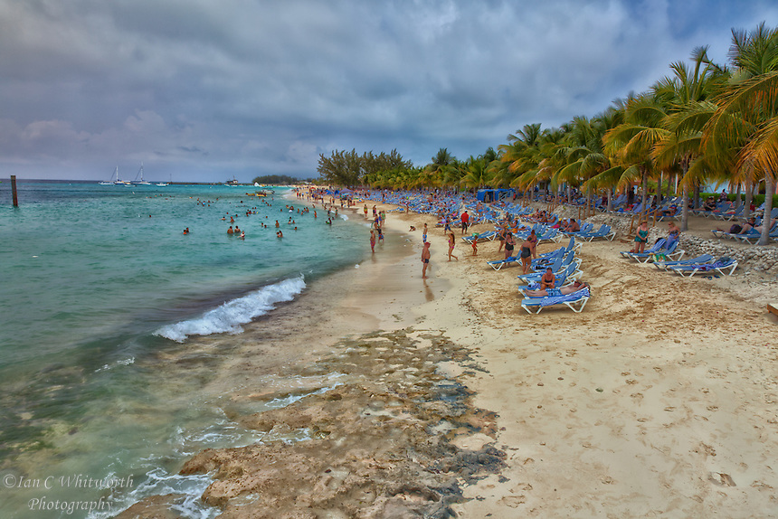The beach at the cruise ship port in Grand Turk in Turks & Caicos.