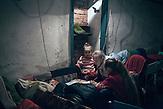Im Keller in  Myronivsky nahe Debaltsewo nach dem Abkommen von Minsk zu Beginn des Waffenstillstandes, 15.02.2015/   Myronivsky near Debaltseve after the  Minsk deal at the Begining of ceasefire_15.02.2014