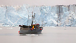 "Research Vessel ""Auklet"" and Columbia Glacier, Alaska"