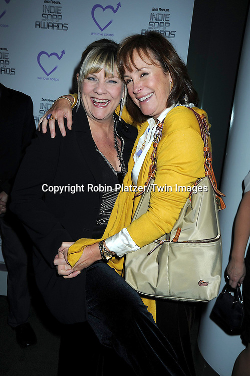 Kim Zimmer and Hillary B Smith attending The 2nd Annual Indie Soap Awards on February 21, 2011 at The Alvin Ailey Studios in  New York City sponsored by We Love Soaps.
