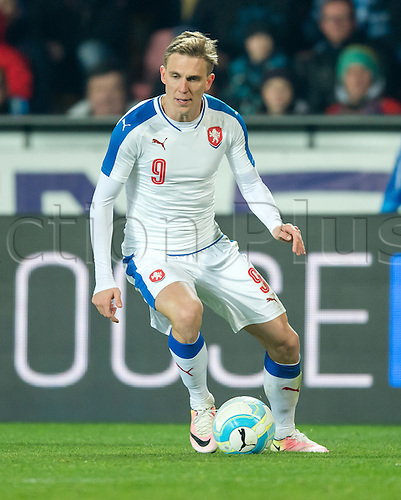 24.03.2016. Prague, Czech Republic.  The Czech Republic's Borek Dockal in action during the international friendly match between the Czech Republic and Scotland at Letna Stadium in Prague, Czech Republic, 24 March 2016.