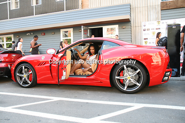 Michelle in Ferrari Maserati of Central New Jersey at Metropolitan Bikini Fashion Weekend 2013 Held at BOA Sponsored by Social Magazine, Maserati and Ferrari, Hoboken NJ