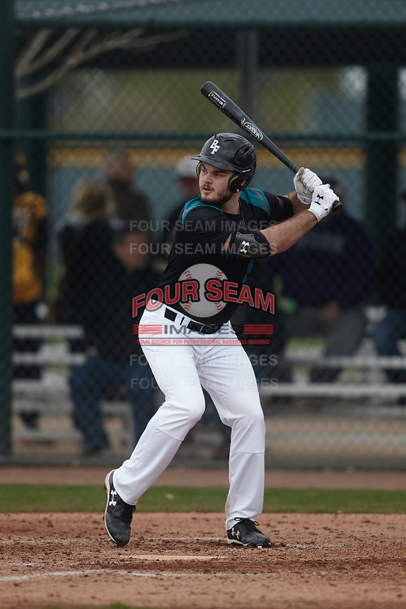 J.P. Shaw (8) of Mansfield High School in Mainesburg, Pennsylvania during the Under Armour All-American Pre-Season Tournament presented by Baseball Factory on January 15, 2017 at Sloan Park in Mesa, Arizona.  (Kevin C. Cox/MJP/Four Seam Images)