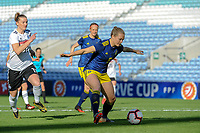 20200304 Faro , Portugal : Swedish Magdalena Eriksson (6) and German midfielder Alexandra Popp (11) pictured during the female football game between the national teams of Germany and Sweden on the first matchday of the Algarve Cup 2020 , a prestigious friendly womensoccer tournament in Portugal , on wednesday 4 th March 2020 in Faro , Portugal . PHOTO SPORTPIX.BE | STIJN AUDOOREN