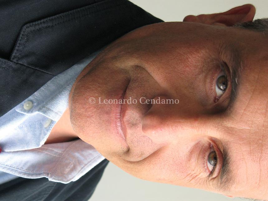 Turin, Italy, 2007. Roberto Alajmo, Italian writer and journalist.