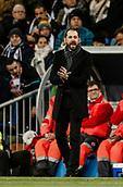 18th March 2018, Santiago Bernabeu, Madrid, Spain; La Liga football, Real Madrid versus Girona; Cristiano Ronaldo (Real Madrid) Pablo Machin Coach of Girona FC