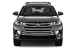Car photography straight front view of a 2017 Toyota Highlander Limited-Platinum 5 Door SUV Front View
