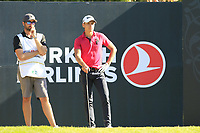Joakim Lagergren (SWE) on the 8th tee during Saturday's Round 3 of the 2018 Turkish Airlines Open hosted by Regnum Carya Golf &amp; Spa Resort, Antalya, Turkey. 3rd November 2018.<br /> Picture: Eoin Clarke | Golffile<br /> <br /> <br /> All photos usage must carry mandatory copyright credit (&copy; Golffile | Eoin Clarke)
