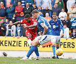 22.09.2019 St Johnstone v Rangers: Jermain Defoe scores goal no 4 for Rangers