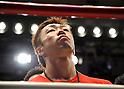 Akira Yaegashi (JPN), OCTOBER 24, 2011 - Boxing : Akira Yaegashi of Japan listens to the national anthem before the WBA minimumweight title bout at Korakuen Hall in Tokyo, Japan. (Photo by Mikio Nakai/AFLO)