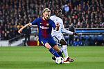 UEFA Champions League 2017/2018.<br /> Round of 16 2nd leg.<br /> FC Barcelona vs Chelsea FC: 3-0.<br /> Ivan Rakitic vs N'Golo Kante.