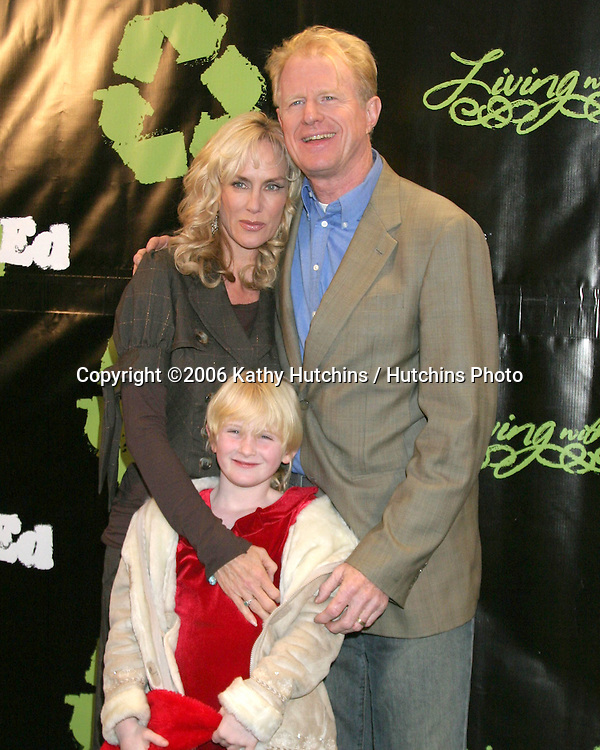 "Ed Begley Jr & Wife Rachelle Carson, with daughter Hayden .""Living With Ed"" Premiere Screening & Party.Sunset Lammle Theater.Los Angeles, CA.December 21,  2006.©2006 Kathy Hutchins / Hutchins Photo...."