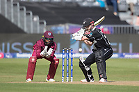 Kane Williamson (New Zealand) plays late and guides to third during West Indies vs New Zealand, ICC World Cup Warm-Up Match Cricket at the Bristol County Ground on 28th May 2019