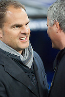 Frank De Boer and Jose Mourinho greetings moments before match starts