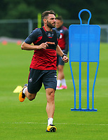 Pictured: Angel Rangel in action. Tuesday 11 July 2017<br /> Re: Swansea City FC training at Fairwood training ground, UK