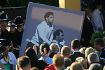 The caddies bring a poster of Seve Ballesteros and Jose Maria Olazabal to the closing ceremony of the 2010 Ryder Cup at the Twenty Ten Course, Celtic Manor Resort, Newport, Wales, 4th October 2010..(Picture Eoin Clarke/www.golffile.ie)