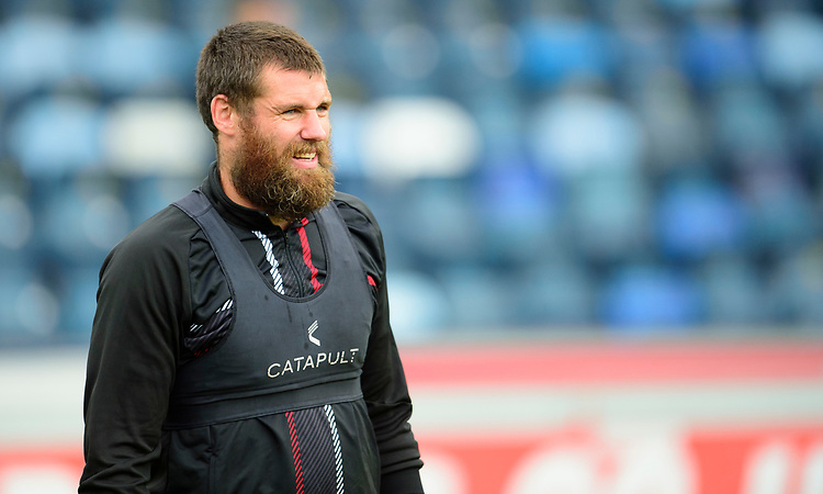 Lincoln City's Michael Bostwick during the pre-match warm-up<br /> <br /> Photographer Andrew Vaughan/CameraSport<br /> <br /> The EFL Sky Bet League One - Wycombe Wanderers v Lincoln City - Saturday 7th September 2019 - Adams Park - Wycombe<br /> <br /> World Copyright © 2019 CameraSport. All rights reserved. 43 Linden Ave. Countesthorpe. Leicester. England. LE8 5PG - Tel: +44 (0) 116 277 4147 - admin@camerasport.com - www.camerasport.com
