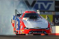 Feb 3, 2017; Chandler, AZ, USA; NHRA funny car driver Robert Hight during Nitro Spring Training preseason testing at Wild Horse Pass Motorsports Park. Mandatory Credit: Mark J. Rebilas-USA TODAY Sports