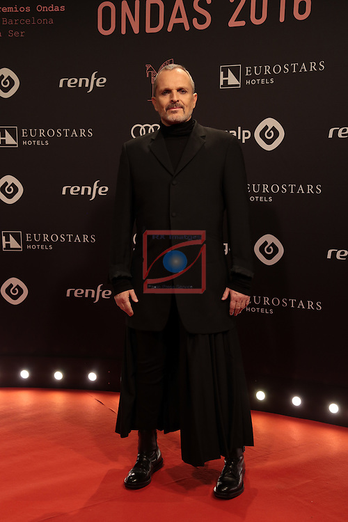 63 Premios Ondas.<br /> Photocall-Gala entrega de Premios.<br /> Miguel Bose.