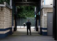 14th July 2020; The Den, Bermondsey, London, England; English Championship Football, Millwall Football Club versus Blackburn Rovers; Blackburn Rovers manager Tony Mowbray walking back through the away players tunnel leaving The Den Stadium