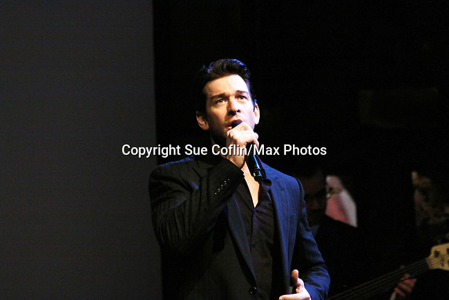 Andy Karl sings - Only Make Believe on Broadway - 14th Annual Gala - on November 4, 2013 hosted by Sir Ian McKellen honoring Susan Sarandon in New York City, New York.  (Photo by Sue Coflin/Max Photos)