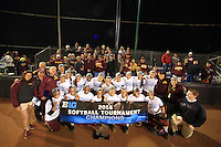 The University of Minnesota 2014 BigTen Softball Champions. Evanston, IL. May 10, 2014