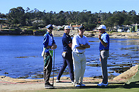 Jon Rahm (ESP) on the 18th tee at Pebble Beach course during Friday's Round 2 of the 2018 AT&amp;T Pebble Beach Pro-Am, held over 3 courses Pebble Beach, Spyglass Hill and Monterey, California, USA. 9th February 2018.<br /> Picture: Eoin Clarke | Golffile<br /> <br /> <br /> All photos usage must carry mandatory copyright credit (&copy; Golffile | Eoin Clarke)