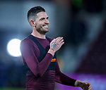 09.05.2018 Hearts v Hibs: Kyle Lafferty takes a lap of honour at the end