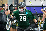 TAMPA, FL - MAY 20:  Hannah George #26 of the Le Moyne Dolphins is introduced during the Division II Women's Lacrosse Championship held at the Naimoli Family Athletic and Intramural Complex on the University of Tampa campus on May 20, 2018 in Tampa, Florida. Le Moyne defeated Florida Southern 16-11 for the national title. (Photo by Jamie Schwaberow/NCAA Photos via Getty Images)
