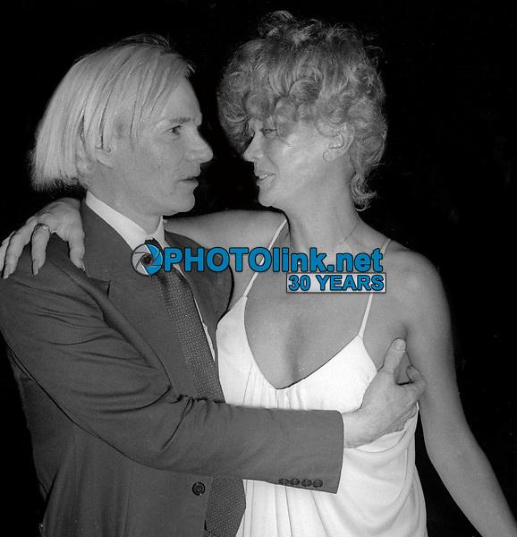 Andy Warhol Monique Van Vooren at Studio 54 1978<br /> Photo By Adam Scull/PHOTOlink.net
