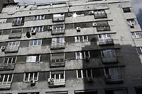 ROMANIA / Bucharest / 04.07.2009 / The facade of a pre-Communist apartment bloc in the center of the city along Calea Victoriei. © Davin Ellicson / Anzenberger
