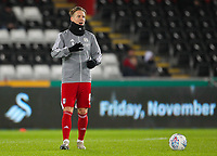 29th November 2019; Liberty Stadium, Swansea, Glamorgan, Wales; English Football League Championship, Swansea City versus Fulham; Stefan Johansen of Fulham warms up before the match  - Strictly Editorial Use Only. No use with unauthorized audio, video, data, fixture lists, club/league logos or 'live' services. Online in-match use limited to 120 images, no video emulation. No use in betting, games or single club/league/player publications