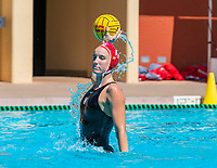 Stanford, California - April 15, 2018: Stanford Women's Water Polo defeats ASU 10-4 at Avery Aquatic Center in Stanford, California.