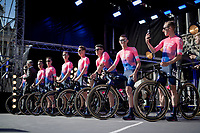team EF Education First  <br /> <br /> Official 106th Tour de France 2019 Teams Presentation at the Central Square (Grote Markt) in Brussels (Belgium)<br /> <br /> ©kramon