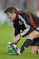 DC United defender Brandon Prideaux (4)  during pre-game warmups. The New England Revolution defeated DC United 2-1, Saturday, October 7, 2006, at RFK Stadium.