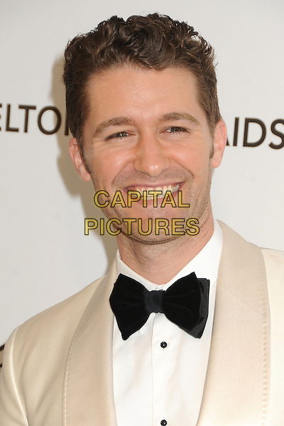 Matthew Morrison.21st Annual Elton John Academy Awards Viewing Party held at West Hollywood Park, West Hollywood, California, USA..February 24th, 2013.oscars headshot portrait black white tuxedo smiling jacket bow tie .CAP/ADM/BP.©Byron Purvis/AdMedia/Capital Pictures.