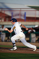 Burlington Bees outfielder Trever Allen (7) at bat during a game against the Clinton LumberKings on August 20, 2015 at Community Field in Burlington, Iowa.  Burlington defeated Clinton 3-2.  (Mike Janes/Four Seam Images)